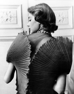 Jacqueline Marsel wearing a dress by Elsa Schiaparelli, 1951. Photo by Regina Relang.