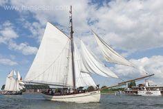 Trdaitional sailing ship Hoffnung at Hanse Sail Rostock