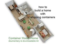 Documentary & downloadable kit prepared by Architects, Engineers & Contractors teaching how to build a home with shipping containers.