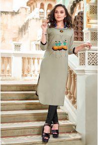 3fe3980934 Wholesale Stylish Office Wear Rayon Knee Length Kurti Catalog | Kurti  Supplier