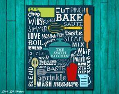 Kitchen Sign. Kitchen Wall Decor. Kitchen Decor. Kitchen Wall