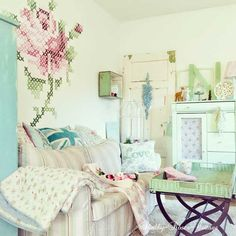 love the stitch wall look