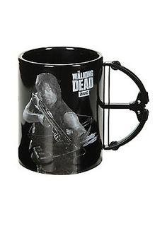 Coffee break with Daryl  // The Walking Dead Daryl Crossbow Black Mug