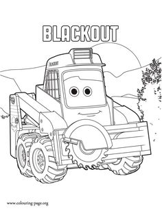Blackout, a character in the upcoming Disney movie Planes 2. What about to print and color this cool Planes: Fire and Rescue coloring sheet?