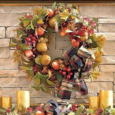 common ground : ReStyled Fall Wreath and Black Botanicals