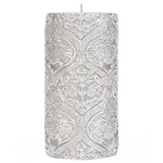 Get Gold & Cream Debossed Lace Pillar Candle online or find other Pillar Candles products from HobbyLobby.com