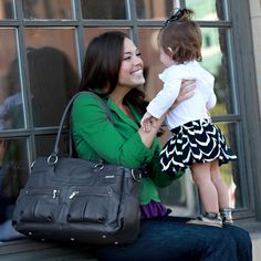 a stylish diaper bag for the mama on-the-go