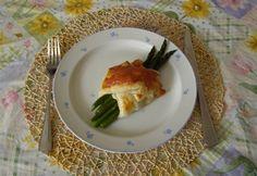 Spárga leveles tésztában Eggs, Breakfast, Food, Morning Coffee, Essen, Egg, Meals, Yemek, Egg As Food