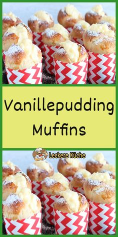 New Easy Cake Vanillepudding Muffins Quick Dessert Recipes, Easy Cookie Recipes, Italian Pastries, Homemade Donuts, Chocolate Cookie Recipes, Chocolate Cake, New Cake, Food Cakes, Recipe For 4
