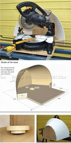 Miter Saw Dust Hood - Miter Saw Tips, Jigs and Fixtures   WoodArchivist.com
