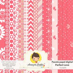 Pacote papel digital - Perfect Love - Armazem Criativo
