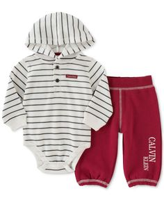 Calvin Klein Baby Boys' Thermal Bodysuit and Pants Set