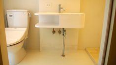 カッコだけじゃない洗面器。この下にネコトイレを2つ置けます。