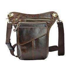 8b646b5749 Fenarzo Men s Leather Tactical Fanny Pack (A-Brown)
