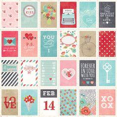 Love Letter 12x12 Designer Cardstock | Simple Stories