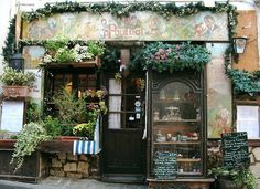 Imagem de vintage, flowers, and shop