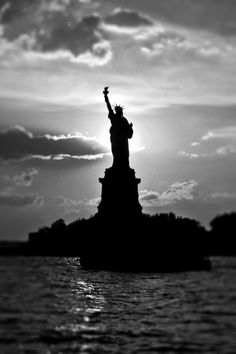 #photography  #black and white photography #new york #statue of liberty