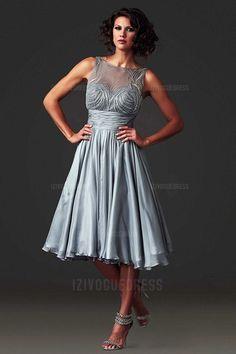 A-Line/Princess Bateau Tea-length Chiffon Mother of the Bride Dress