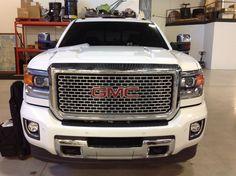 Installed a Clear Auto Bra on a 2015 GMC Sierra Denali Duramax Diesel using XPel Ultimate Paint Protection Film. www.ClearAutoBraMi.com Gmc Sierra Denali, Gmc Denali, Diesel, Michigan, Trucks, Paint, Bra, Film, Diesel Fuel