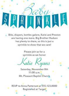 Baby Sprinkle Invitation Idea 8                                                                                                                                                     More