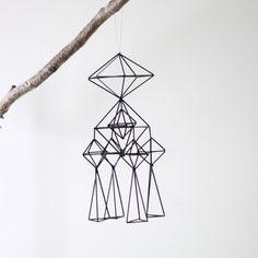 Items similar to Himmeli no. 2 / Modern Hanging Mobile / Geometric Sculpture / Minimalist Home Decor on Etsy Straw Sculpture, Mobile Sculpture, Sweden Christmas, Straw Art, Geometric Sculpture, Sculpture Projects, Kinetic Art, Hanging Mobile, Minimalist Home Decor