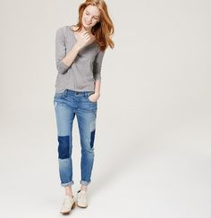 NO DIY!  want to diy this patch look on my jeans...idea only.