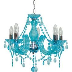 Buy Inspire 5 Light Teal Chandelier at Argos.co.uk - Your Online Shop for Ceiling and wall lights.