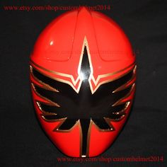 1:1 Scale Halloween Costume, Mighty Mystic Force Power Ranger Helmet Costume Mask, Power Ranger Cosplay Red Ranger PR04