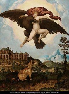 The Abduction Of Ganymede  by (after) Jan Swart Van Groningen