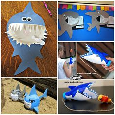 Non-Scary Shark Crafts for Kids to Create - Crafty Morning