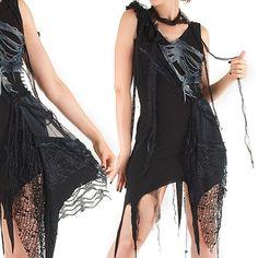 Vestido Corto Gotico Negro