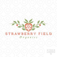 Logo For Sale: natural country style strawberry logo.