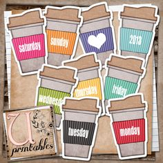 U printables by RebeccaB: FREE printable - Coffee Takeaways