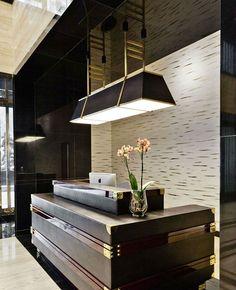 hotel reception Design by london - - MT-BBS Hotel Reception Desk, Lobby Reception, Reception Design, Reception Counter, Lobby Interior, Office Interior Design, Bureau Design, Hotel Interiors, Office Interiors