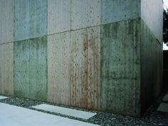 concrete + wood – wood grain recurring in the concrete - Store and Studio in Hagi | Sambuichi Architects