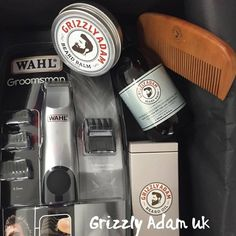 Grizzly Adam Premium Beard Care Gift Set + Wahl Beard Trimmer