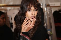 #GizeleOliveira #backstage at #RebeccaMinkoff #MBFW #nails