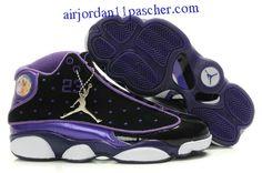 new product 80848 6f10a Femmes Air Jordan 13 Noir Violet Chaussures Cheap Jordan Shoes, Air Jordan  Shoes, Jordan