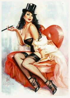 Zatanna by Cedric Poulat, in tribute to Gil Elvgren pin up girl Pin Up Vintage, Pin Up Retro, Retro Art, Vintage Beauty, Vintage Art, Gil Elvgren, Modelos Pin Up, Power Girl, Pin Up Girls