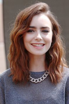 Hair Colour Ideas: A-list Inspiration | Fashion Pictures | Marie Claire Adding some spice to her natural brown colour, Lily has weaved some hot red through her midi hair to keep it fresh.