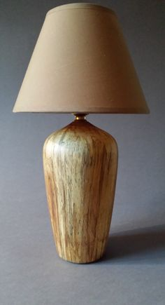 Wooden table Lamp ( Spalted Birch) by WiltshireDesigns on Etsy Wooden Table Lamps, Wood Lamps, Wood Furniture, Furniture Design, Lamp Ideas, Lamp Shades, Lathe, Lamp Design, Wood Turning