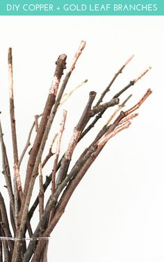 Copper + Gold Leaf Branches