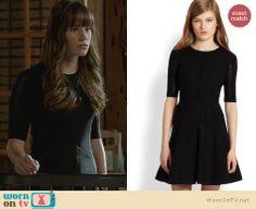 Charlotte's black half-sleeve fit and flare dress on Revenge. Outfit Details: http://wornontv.net/24558 #Revenge #fashion