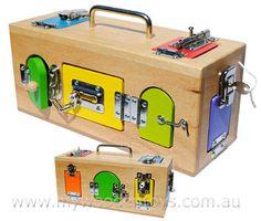 Wooden Lock Box- Fine motor function
