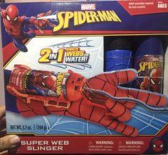 Hasbro Marvel Spiderman Super Web Slinger 2 in 1 Shoots Webs or Water - for sale online Teen Boy Costumes, Spider Man 2, Amazing Spiderman, Kids And Parenting, Marvel, Superhero, Children, Fun, Costumes