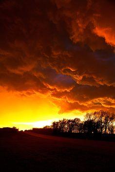 Sky's Fire by kylewright. near Wheeler, Texas