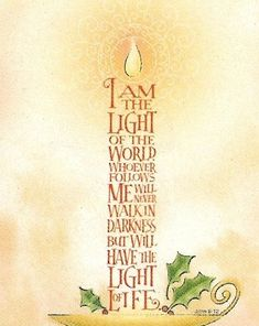 Discover and share Jesus The Light Is Quotes. Explore our collection of motivational and famous quotes by authors you know and love. Scripture Verses, Bible Scriptures, Bible Quotes, Bibel Journal, Theme Noel, Light Of The World, Christmas Quotes, Christmas Bible Verses, Christmas Night