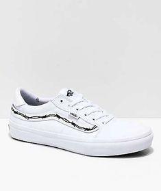 eae24e2ac907 Vans x Sketchy Tank Style 112 Pro Reflective White   Black Skate Shoes Vans  Skate Shoes