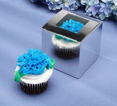 Silver Foil Cupcake Boxes 24 Boxes Take Home Boxes by qcsupplies