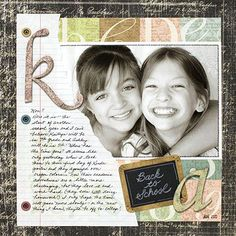 Back-to-School Scrapbook Pages